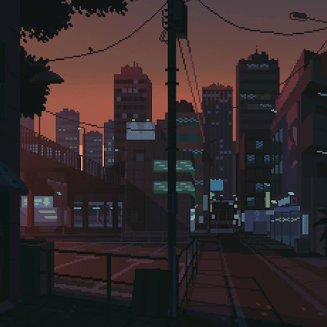 Japanese District - 8bit Wallpaper Engine