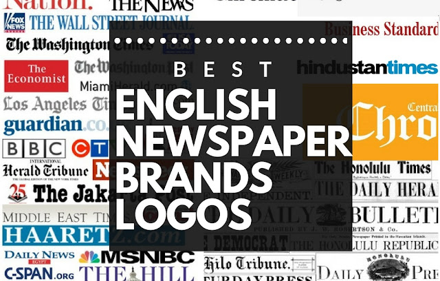 english newspaper brands logos collection