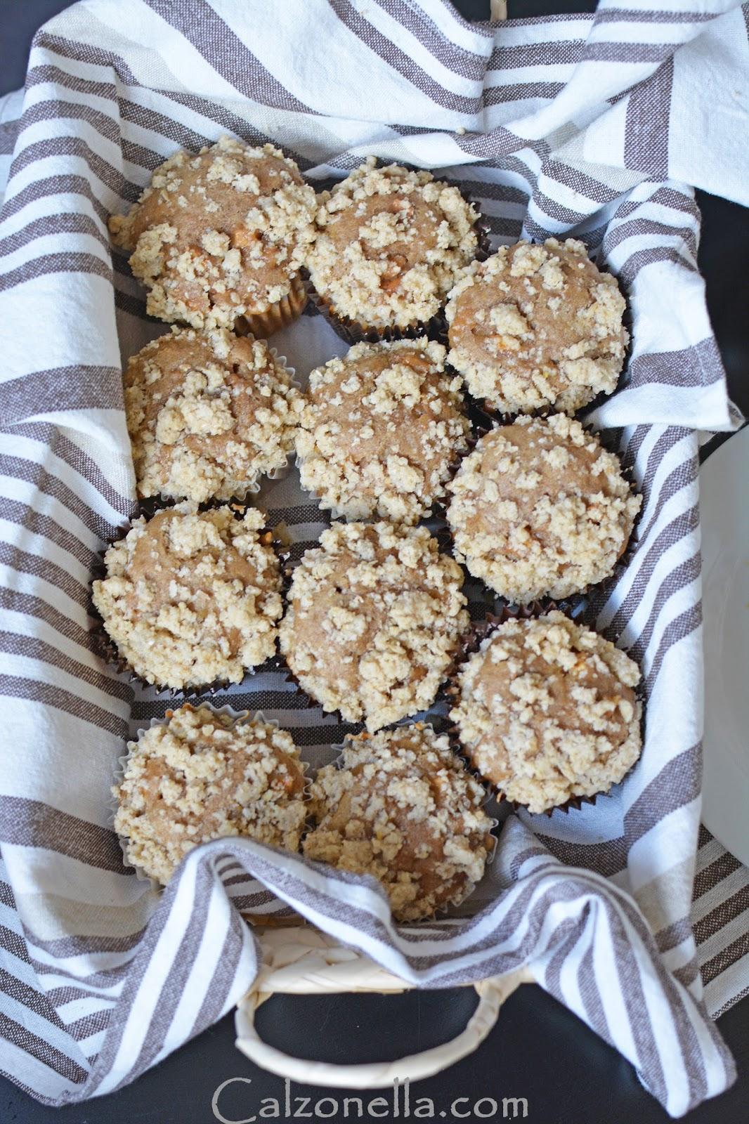 muffiny jabłkowe z cynamonem pełnoziarniste
