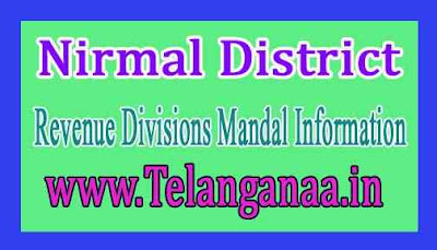Nirmal District Revenue Divisions Mandal Information