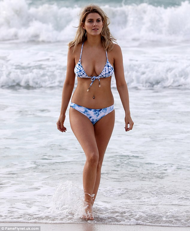 Ashley James puts impeccable curves on show on Dubai beach