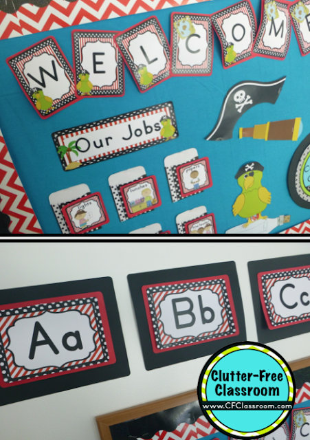 Classroom Decoration Printables Free ~ Pirate themed classroom ideas printable