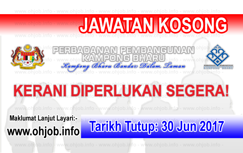 Jawatan Kerja Kosong Perbadanan Kampong Bharu - PKB logo www.ohjob.info jun 2017