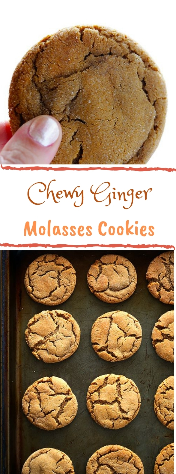 Chewy Ginger Molasses Cookies #ginger #cookies