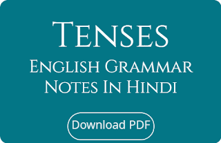 Tenses English Grammar Notes In Hindi