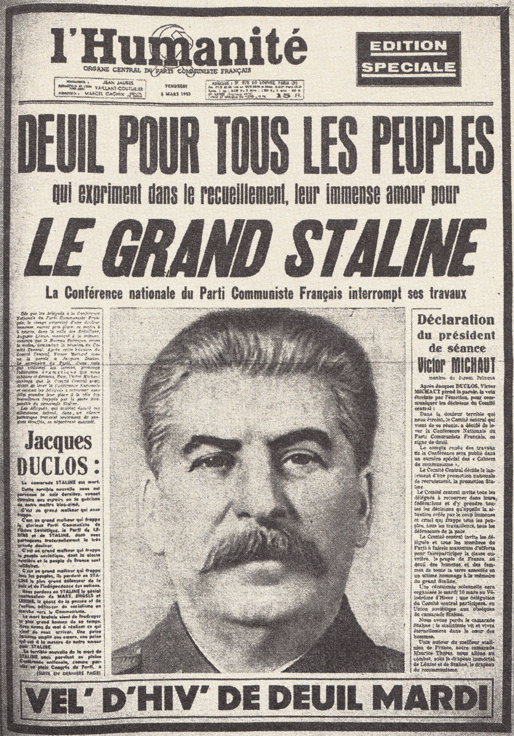 Le Blog de Gilles 5 Mars 1953  la mort de Staline