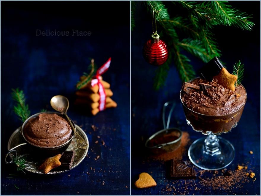 Wegański mus czekoladowo-piernikowy