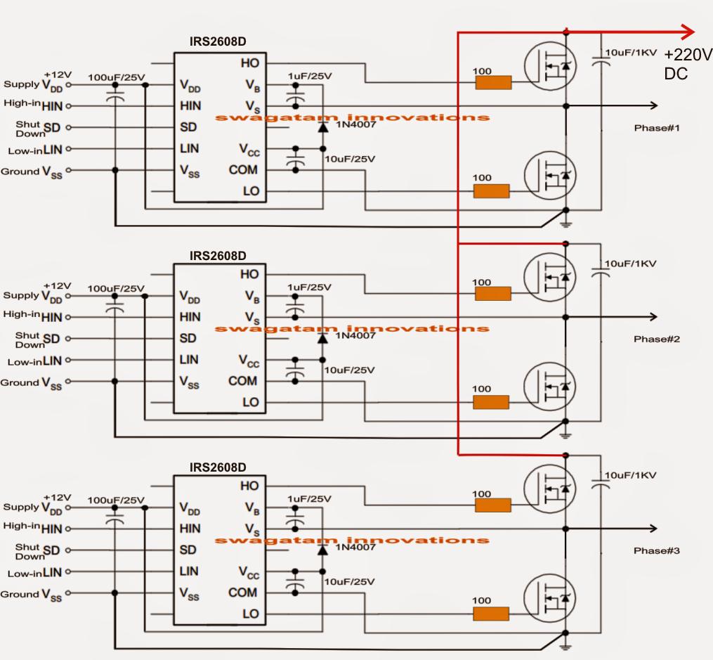 medium resolution of solar 3 phase inverter circuit electronic circuit projects 5000w inverter circuit 5000w inverter circuit diagram pdf