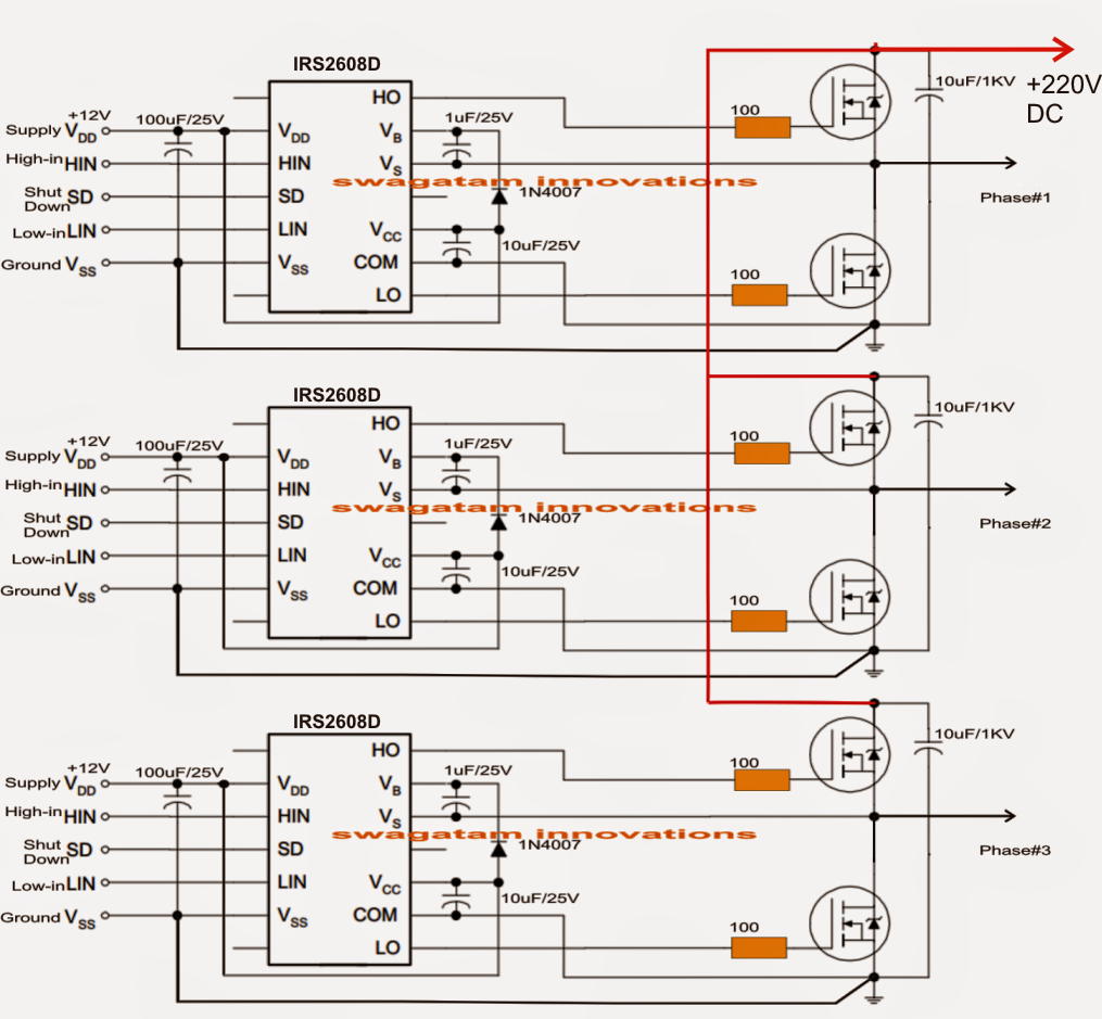 solar 3 phase inverter circuit electronic circuit projects 5000w inverter circuit 5000w inverter circuit diagram pdf [ 1015 x 939 Pixel ]