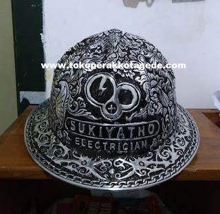 hard hat engraved,safety helmet , alumunium engraved helmet,helm pertambangan,helm ukir