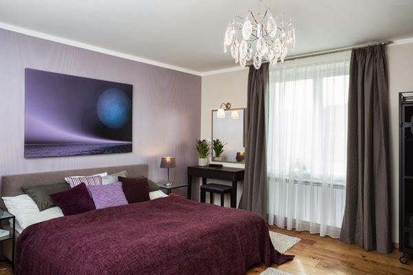 Id e d co chambre noir blanc et violet - Chambre violet et blanc ...