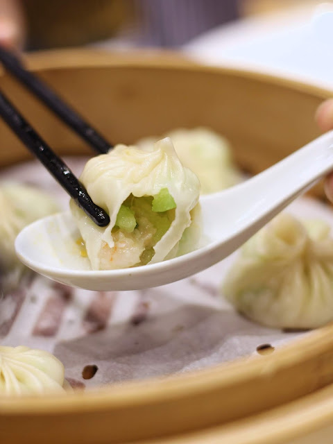 Steamed Angled Loofah with Shrimp Xiao Long Bao