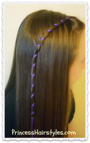 Candy stripe waterfall braid tutorial