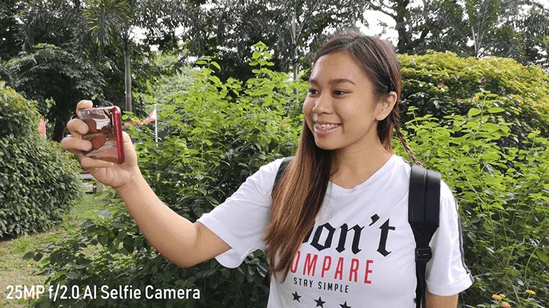 OPPO F9 selfie