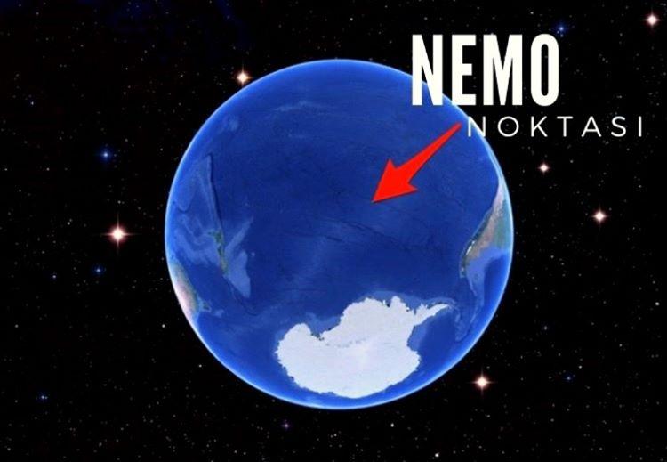 Dünyanın bir ucu olarak bilinen Nemo Noktası karaya en uzak bölgedir.