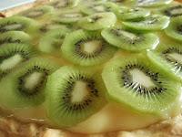 tarta de limón y kiwi