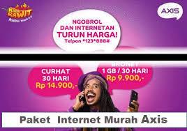 Internet Irit Dengan Axis