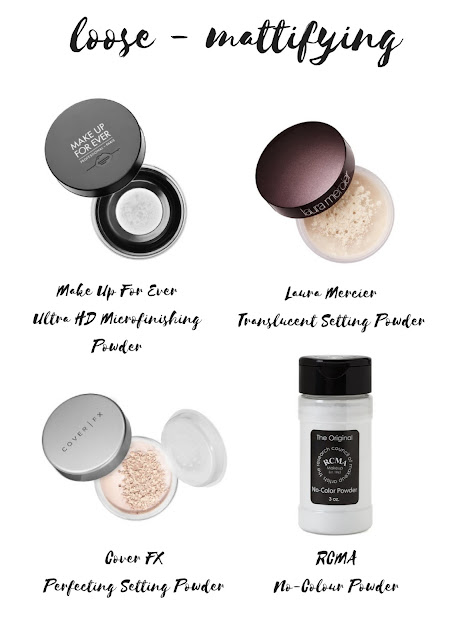 Top 10 Must Have Setting Powders That You NEED Right Now! | Pressed, Loose, Illuminating & Mattifying | labellesirene.ca