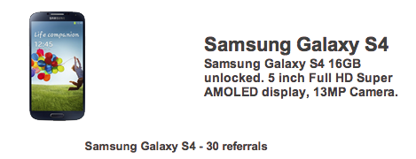 Samsung Galaxy S4 FreebieJeebies