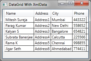 Mitesh Sureja's Blog: Binding WPF DataGrid with XML File