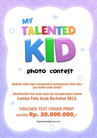 "Lomba Foto Anak ""My Talented Kid"""