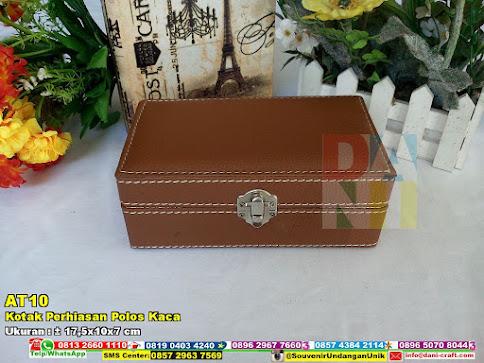 Kotak Perhiasan Polos Kaca