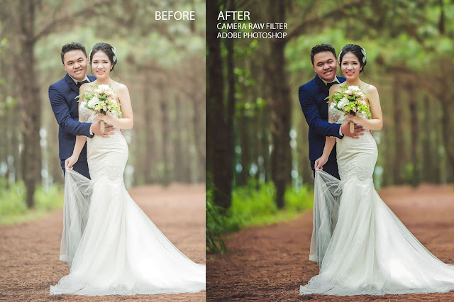 Photoshop Tutorial Wedding Photo Edit: Camera Raw Filter