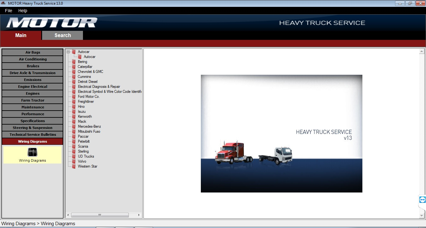 Heavy Truck Service Content Coverage: · Air Bag · Air Conditioning · Brakes  · Drive Axle & Transmission · Emissions · Engine Electrical · Engines