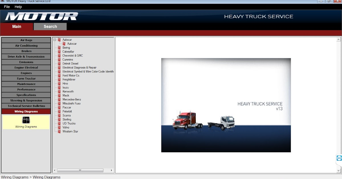 MOTOR HEAVY TRUCK Service v13 2013 - All Heavy Trucks Wiring
