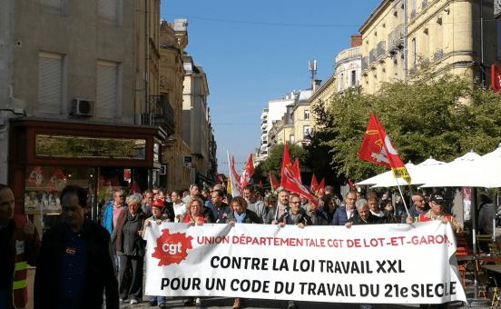 Franceses protestan contra reformas laborales de Macron