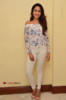 Actress Pragya Jaiswal Latest Pos in White Denim Jeans at Nakshatram Movie Teaser Launch  0019.JPG