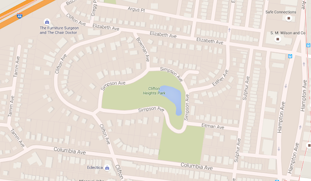 map of clifton heights park st louis