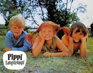 Inger+Pippi Langstrumpf amigos Tommy Anika