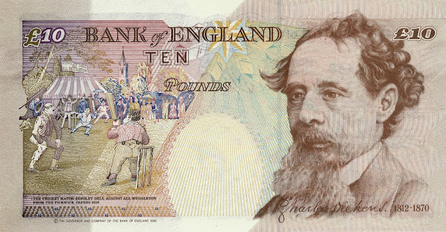 British Banknotes‎ 10 Pound Sterling note 1993 Charles Dickens