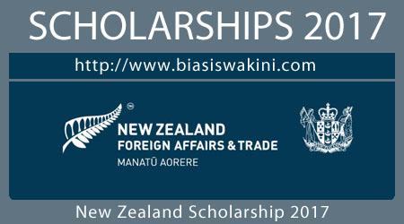 New Zealand Scholarship 2017