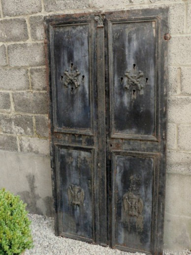 Pair of Antique French Iron Cellar Doors via Relics as seen on linenandlavender.net