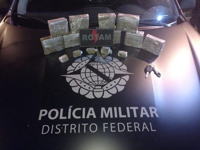 Casal é preso com 3 quilos de maconha em Ceilândia
