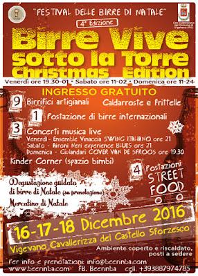 Birre vive sotto la torre Christmas edition 16-17-18 dicembre Vigevano