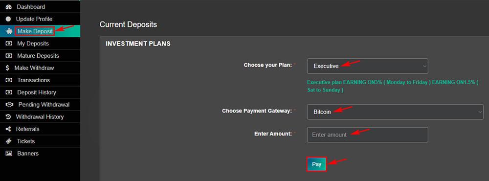 Создание депозита в Blockrb Limited