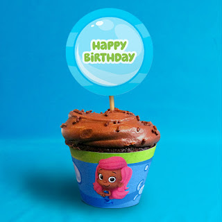 free bubble guppies cupcake toppers