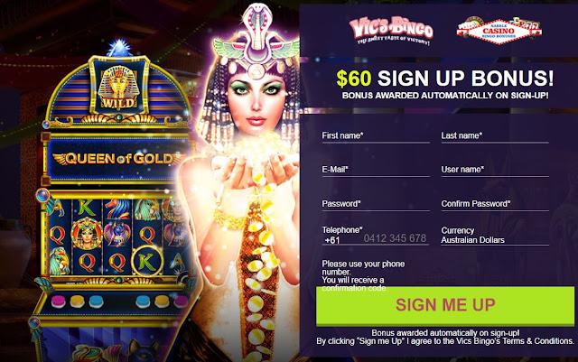 Vics Bingo no deposit bonus
