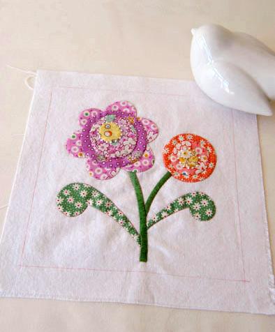 Patchwork Flower Applique Fabric Diy Step By Step Tutorial Diy