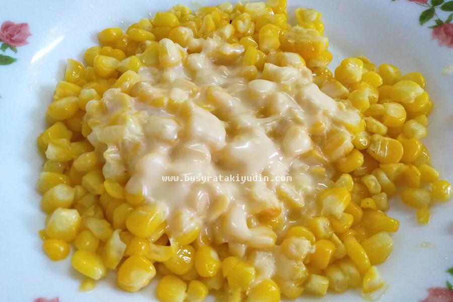 jagung rebus, jagung rebus cheese, cheese, resepi jagung rebus cheese,