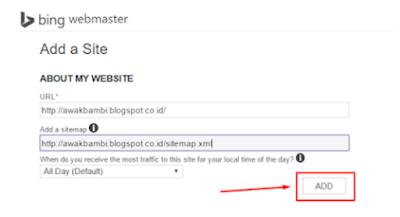 Cara Mendaftakan Blog Ke Bing