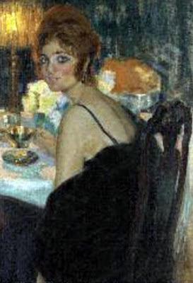 Mujer sentada, Francisco Pons Arnau, Pintor español, Pintor Valenciano, Pintura Valenciana, Impresionismo Valenciano, Pintor Pons Arnau, Retratos de Pons Arnau