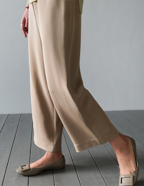 Half Garter Side Zipped Slacks