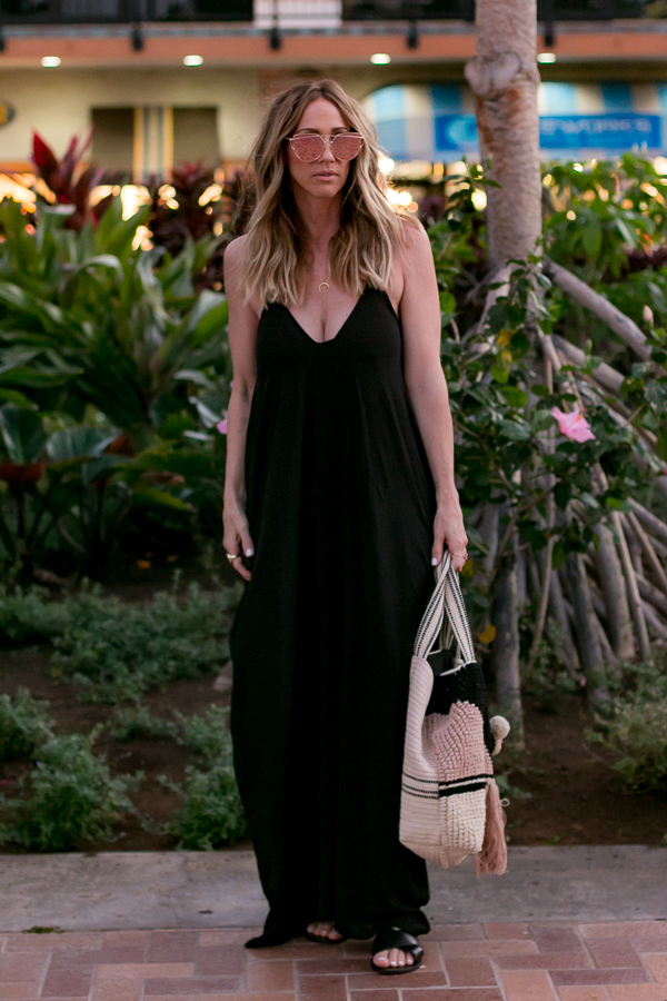 the perfect black maxi dress for tall girls