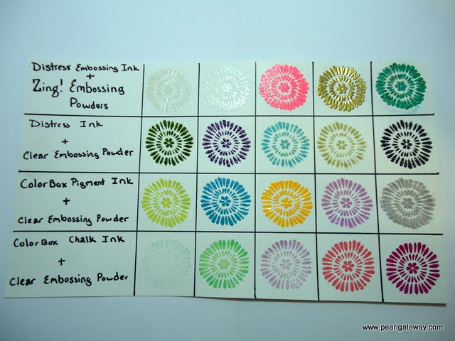pearl gateway how to use embossing powder a comparison