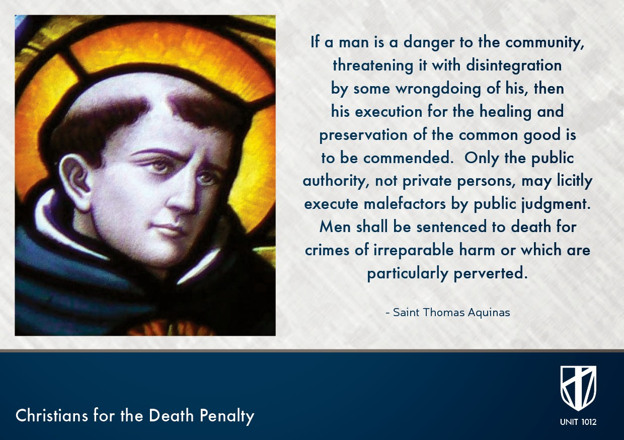 Thomas Aquinas: Unit 1012: The Victims' Families For The Death Penalty