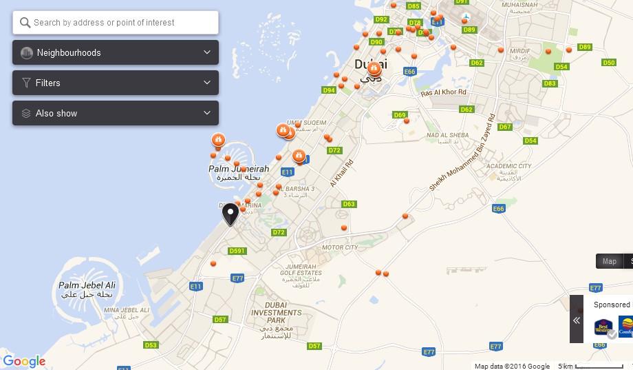 Uae Dubai Metro City Streets Hotels Airport Travel Map Info Ultimate Charter Dubai Map Dubai